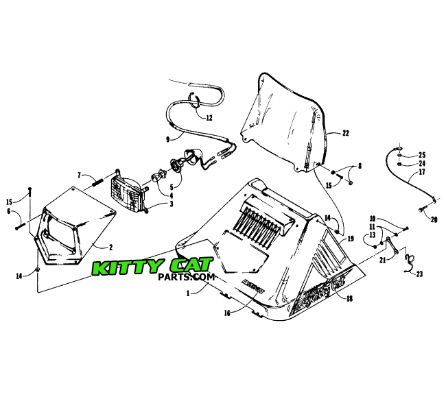 Kittycatparts 6032252779 X 254 Your Source For Arctic Cat Kitty Parts And Information: Kitty Cat Snowmobile Wiring Diagram At Downselot.com